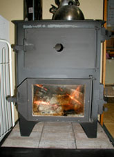 オーブン付きストーブ