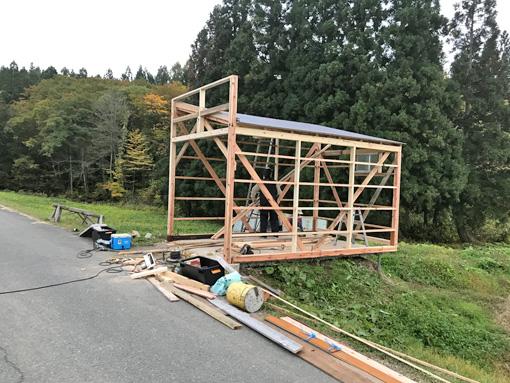 車庫建設2