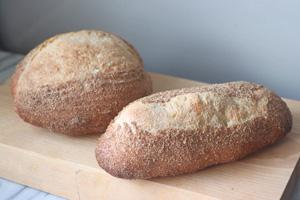 当園産小麦のパン1