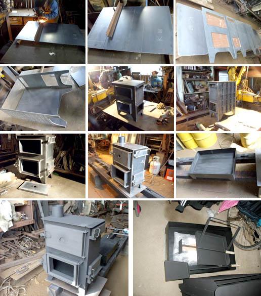 オーブンストーブの製造過程