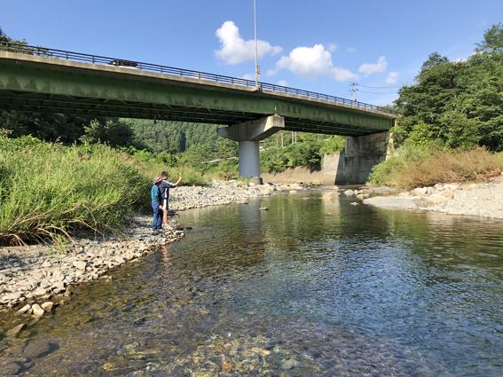 閉伊川の釣り